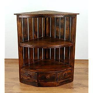 Asia Wohnstudio Rustic Look Corner Unit, Brown Shelf, Handmade Bali Furniture (Indonesia)