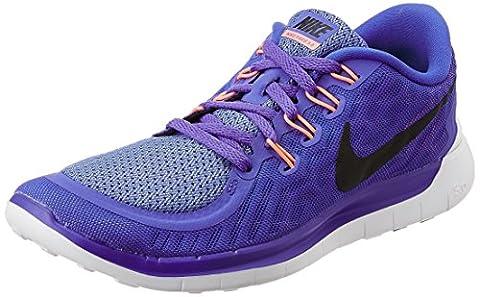 Nike Free 5.0 Damen Laufschuhe,Mehrfabig (Lila/Schwarz),37.5 EU