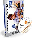 #9: Electronic Project & Circuit Starter Kit, 30 circuits in 1, with Spares, Videos DVD, eBook