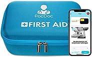 PocDoc Premium – Kit di pronto soccorso intelligente con app (iOS e Android) – Auto DIN 13164 per auto e casa