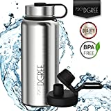 720°DGREE Thermo Water Bottle noLimit – 530ml, Silver | Leakproof Stainless Steel Insulated