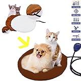 JOYOOO 12W Heizmatte für Haustiere,7 Temperatur Einstellbar zwischen Wasserdicht Wärmematte Wärmer Beheizte Pet Mat Haustier Katze Hund Wärmematte Haustier für Hunde,Katzen,Kaninchen (Braun)