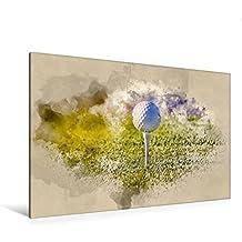 """Premium Textil-Leinwand 120 cm x 80 cm quer, Golf ist wunderbar   Wandbild, Bild auf Keilrahmen, Fertigbild auf echter Leinwand, Leinwanddruck: Ein ... liebe Golf """" von Peter Roder (CALVENDO Sport)"""