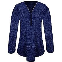 Mujeres con Cuello en V Tops SunGren SunGren Blusa Suelta de Camisa Casual Camisa Túnica Tops
