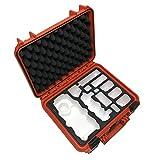 TOMcase Profi Transportkoffer für DJI Mavic Pro und Platinum White Travel Edition mit Platz für 5 Akkus und viel weiterem Zubehör, wasserdichter Outdoor Case IP67 Zertifiziert, Hardcase (orange)