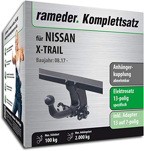 Rameder Komplettsatz, Anhängerkupplung abnehmbar + 13pol Elektrik für Nissan X-Trail (153312-12857-1)