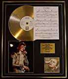 DAVID BOWIE/CD GOLD DISC, SONG SHEET & PHOTO DISPLAY/LTD. EDITION/COA/ALBUM, HUNKY DORY /SONG SHEET, LIFE ON MARS