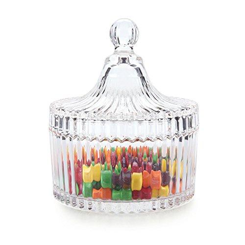 Rachel's Choice klein Vorratsglas/Glasbehälter mit Deckel für Bonboniere, Naschen, Kekse (Diameter 13.5 cm)
