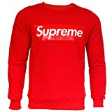 Supreme Italia Herren Sweatshirt Sweat Sweater Big Logo (S, red-red)