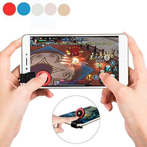 Mobile Game Joystick, Gelenk Universal Smartphone Touchscreen Controller Joypad, mit Cam Clip Design für iPhone/Samsung/OnePlus/Huawei/ZTE/PC/iPad Android IOS Tablet Rot