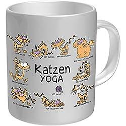 Taza: gatos haciendo yoga