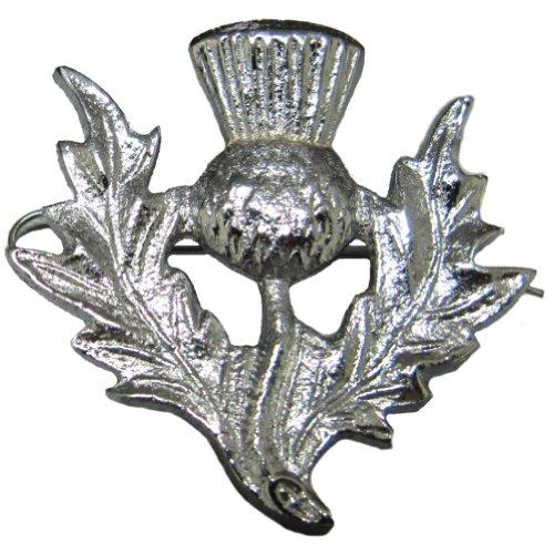 Tartanista Emblem für Glengarry-Mütze Schottische Distel - Chrom