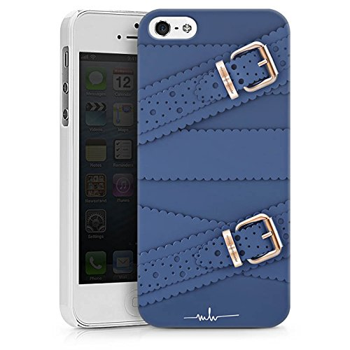 Apple iPhone X Silikon Hülle Case Schutzhülle Leder Mode Schnallen Hard Case weiß