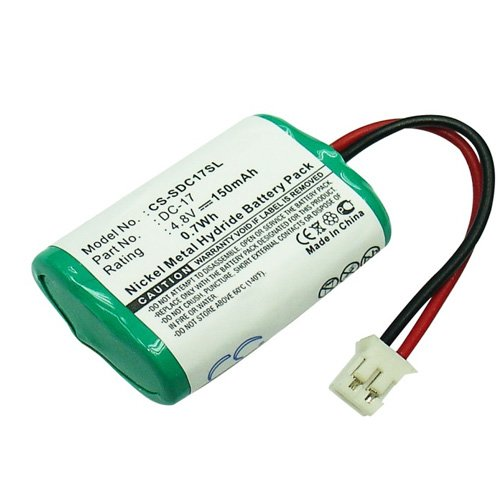Batterie pour Sportdog SD-800 Ni-MH 4,8 V 150 mAh - DC-17, 4sn-1/4aaa15h-h-jp1, DC-17 _ 5, mh120aaal4gc, 650-058