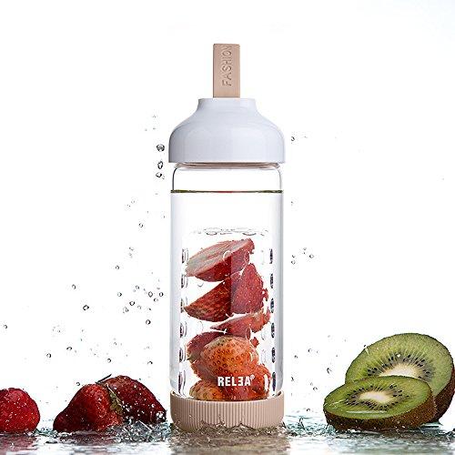 bouteille infuseur fruits new vie meilleure eau potable bouteille 24 ouncethree option couleur. Black Bedroom Furniture Sets. Home Design Ideas