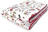 Priebes Krabbeldecke Aladin / Baby Krabbeldecke Spieldecke & Laufgittereinlage / warm und weich gepolstert / Kuscheldecke 100 cm x 135 cm / Bezug 100 % Baumwolle , Design:rotkäpchen