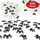 THE TWIDDLERS 200 Gruselige wiederverwenbare Spinnen - Perfekt für Halloween saisonale Dekoration Party Requisiten, Dekorationen - Party Geschenke usw.