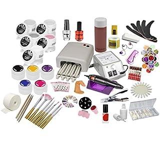 Nagelstudio Starter Set | UV Gel Set | Nagelfräser | UV Lampe 36 Watt | Nailartmix | Uv Farbgele|
