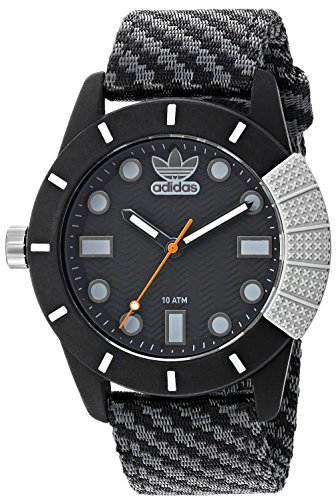 Adidas Abstract Black Dial Men\'s Fabric Watch -ADH3169