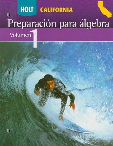 Holt Algebra Readiness: Student Edition (Spanish) Volume 1 (Alg Readiness 2008)
