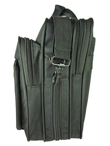 """Herren Business Tasche, Aktentasche für Büro und Arbeit, Laptopfach 16"""", schwarz, Businesstaschen mit Schultergurt, Messenger bag 42x32x13-16cm (schwarz 6268) schwarz 6268"""