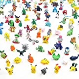 XINPIN 48 PCS Pokemon Monster Mini Figure 2-3cm in Random ...