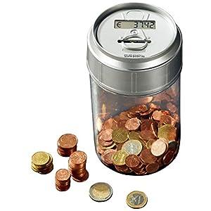 PEARL Spardose mit Zählwerk: Spardose mit elektronischem Münzzähler (Spardose die mitzählt)