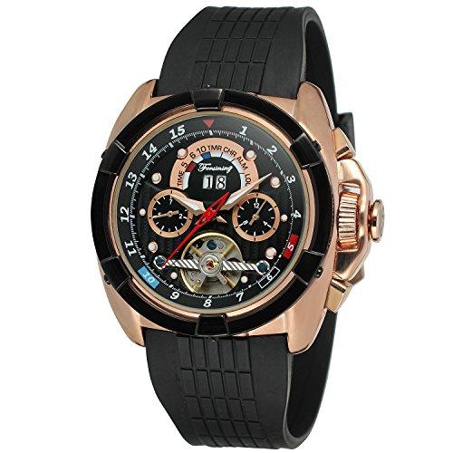Forsining FSG291M3T1 Reloj de pulsera para hombres, calendario automático, día