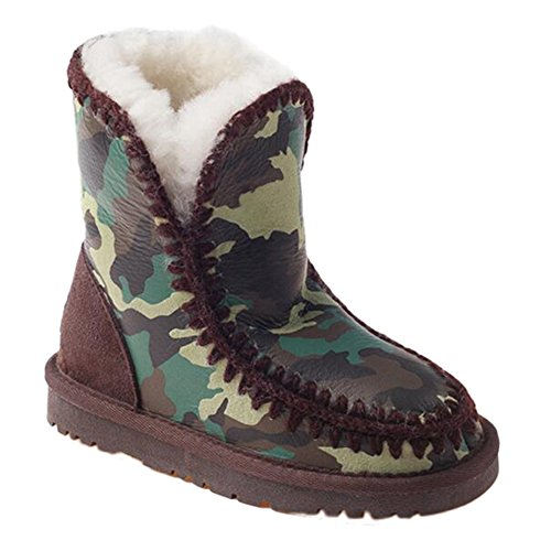 OZwear UGG Eskimo Kinderschuhe Camouflage Schneeschuhe Camogreen (US Little Kid 13M/1M)(UK 12/13)(AU 13/1)(EU 30) - Stiefel Für Uggs Kleinkinder