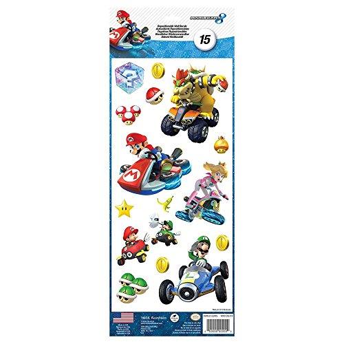 Pegatinas, diseño de Nintendo Mario Kart 8 Roommates adhesivas () 15