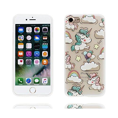 Cover iPhone 6 Custodia, iPhone 6S Copertura, unicorno unicorn Carino Design Copertura in pelle di silicone in gomma morbida TPU per iPhone 6s 4.7 Anti-Graffi # 6