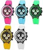 Alain Miller rp4450000030–Uhr, Silikon-Armband mehrfarbig