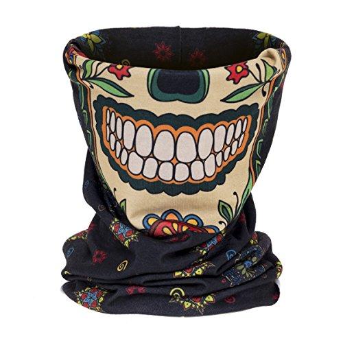 onstuch Schlauchtuch Halstuch Multischal Mexican Skull Face [030] ()