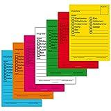 140x Umzugetiketten, 7 Farben, Aufkleber Beschriftung mit Etiketten vom Umzugskarton für den Überblick beim Umzug