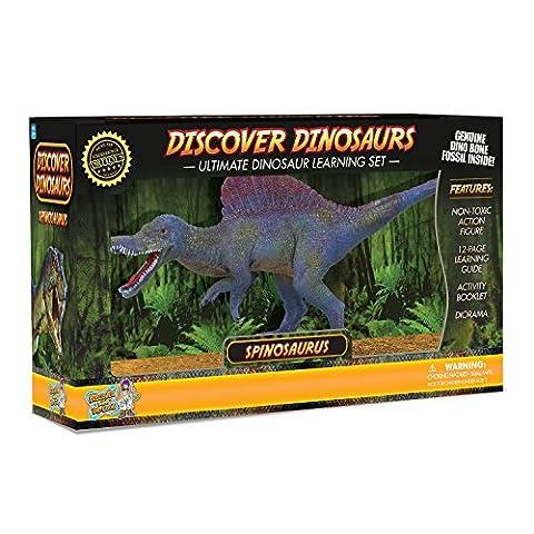 Spinosaurus Action Figure – Includes Real Dinosaur Bone Fossil!