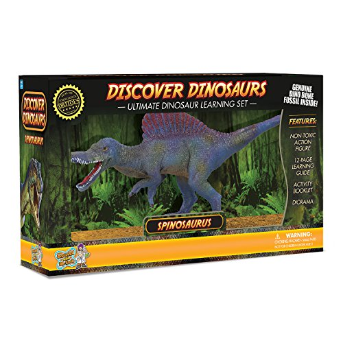 Preisvergleich Produktbild Spinosaurus Action Figure - Includes Real Dinosaur Bone Fossil!
