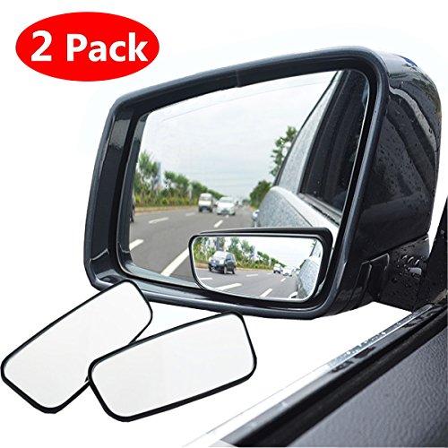 Espejo retrovisor convexo para coches, Skybaba visión trasera de 360º, sin puntos ciegos, diseño ajustable con rotación, cristal curvado ABS de alta calidad para vehículos; 2 unidades
