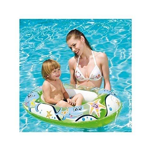 Lively Moments Transparentes Aufblasboot für Kinder / Kinderboot / Schlauchboot in grün