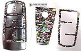 Finest-Folia Schlüssel Folie VC für 3 Tasten Auto Schlüssel Folien Cover (Stickerbomb Farbig)