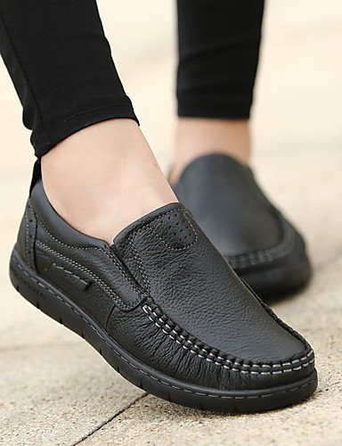 ZQ Scarpe Donna-Stringate-Casual-Comoda-Piatto-PU (Poliuretano)-Nero / Borgogna , black-us8.5 / eu39 / uk6.5 / cn40 , black-us8.5 / eu39 / uk6.5 / cn40 black-us8.5 / eu39 / uk6.5 / cn40