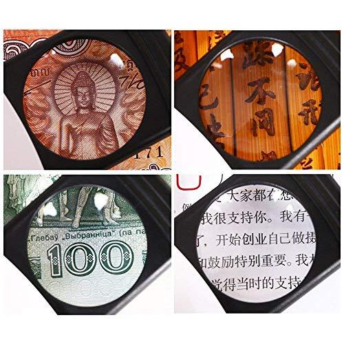 Handheld Illumination Lupe mit Led Licht Hd Objektiv für Buchlesen Schmuck Identifizierung Philatelic Diy Handwerk Gravur und Reparatur 85 * 126mm Lupe Stati ()