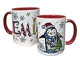 Tasse Pinguin mit Namen, Rosirosinchen, Weihnachten Weihnachtsdeko