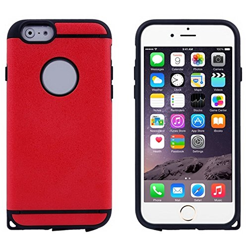 Phone case & Hülle Für IPhone 6 / 6s, 0.3mm ultradünner bunter Spangle TPU transparenter Fall ( Color : Silver ) Red