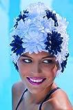 Fashy Badehaube Blüten, schwarz/weiß, 3454 22_22