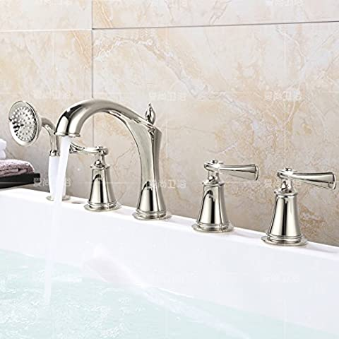 European-style bath mixer with five piece of cover/Shower head sit/tank side taps-A