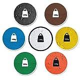 7-teiliges Proben / Bastelset je 100g (24,85€/kg) Pigmentpulver, Eisenoxid, Oxidfarbe im Beutel Farbpigmente, Trockenfarbe für Beton, Gips, Knetbeton & kreatives Basteln - Farben: schwarz, rot, gelb, weiß, braun, grün, blau
