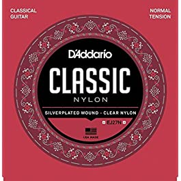 d'Addario EJ27N Set Corde Classica Ej27 Classic Nylon & AmazonBasics Plettri, tinta unita, in celluloide, 10 pezzi
