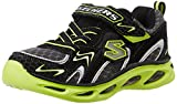 Skechers Boy's Ipox - Rayz Black and Lime Sports Shoes - 2 kids UK/India(35 EU)(3 US)