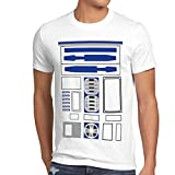 style3 R2 Einheit Herren T-Shirt Astromech droide, Größe:M