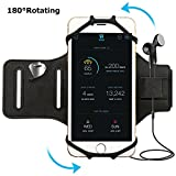 Simptech Running Phone Armband für iPhone X/8/7/6/6S Plus, Galaxy S8/S7/S7 Edge,180°Drehbares Design mit Schlüsselhalter Ideal für Training Jogging Hiking Biking (armband)